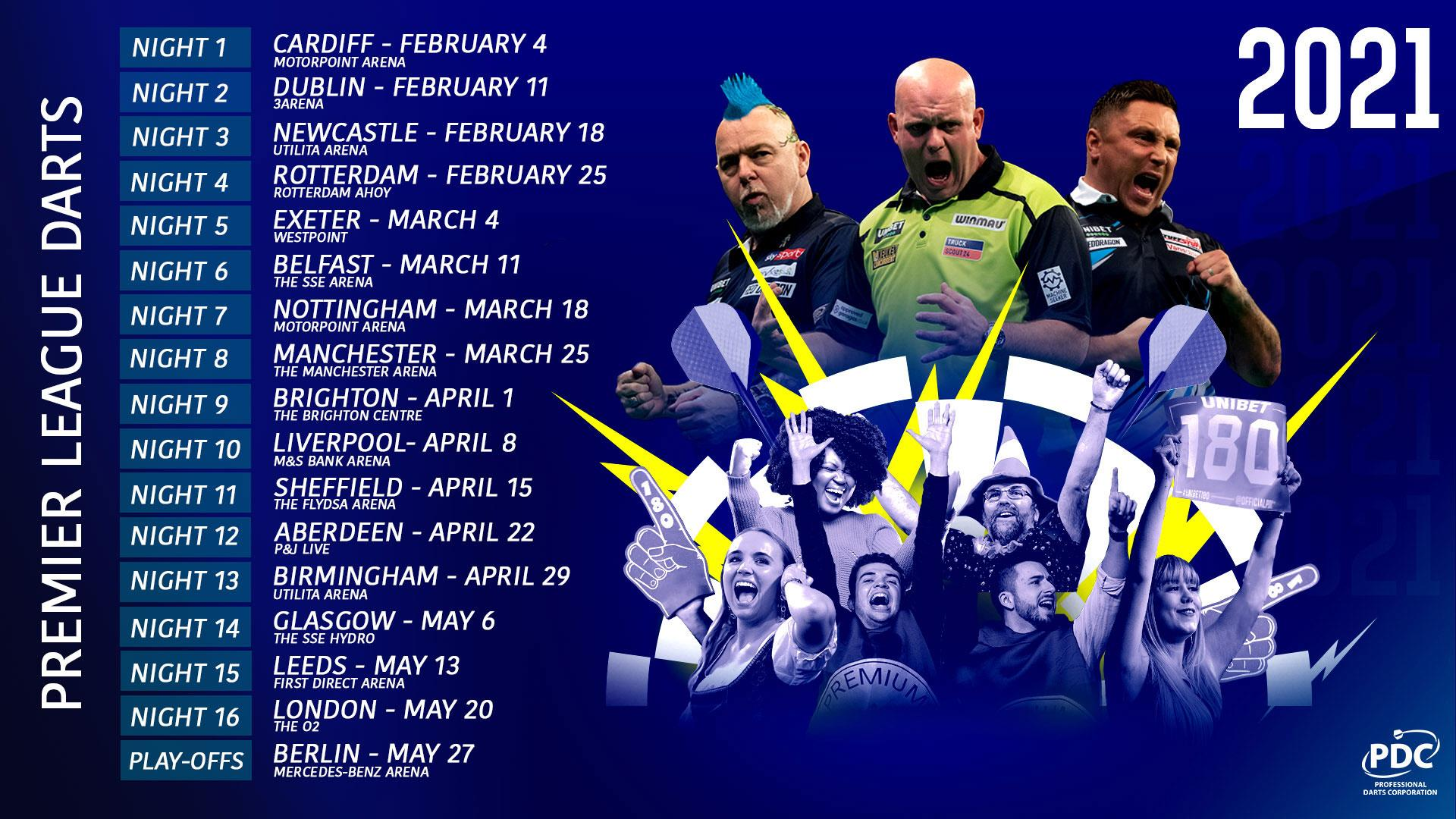 Premier League Darts 2021 Berlin Tickets