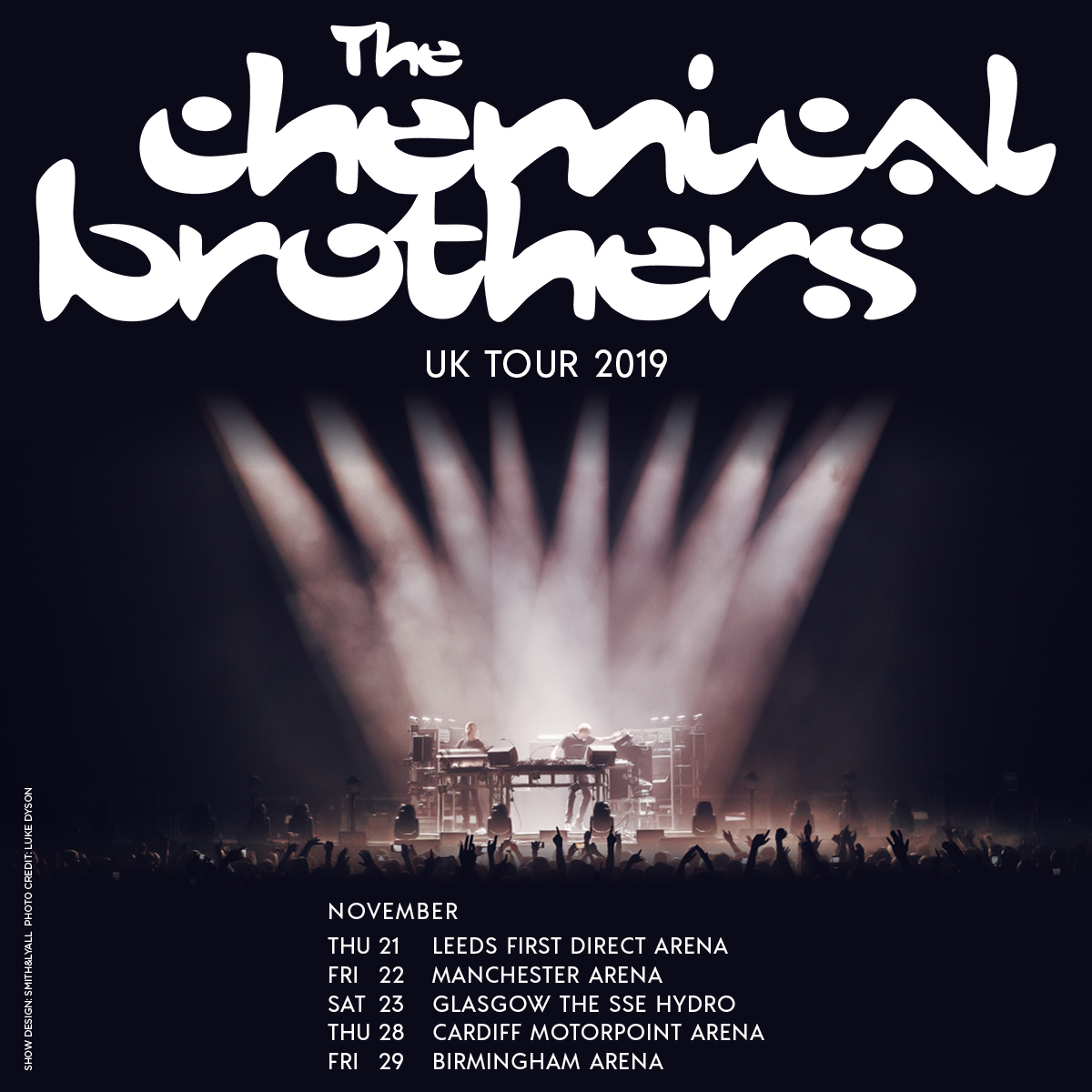 Resultado de imagen de The Chemical Brothers uk tour 2019