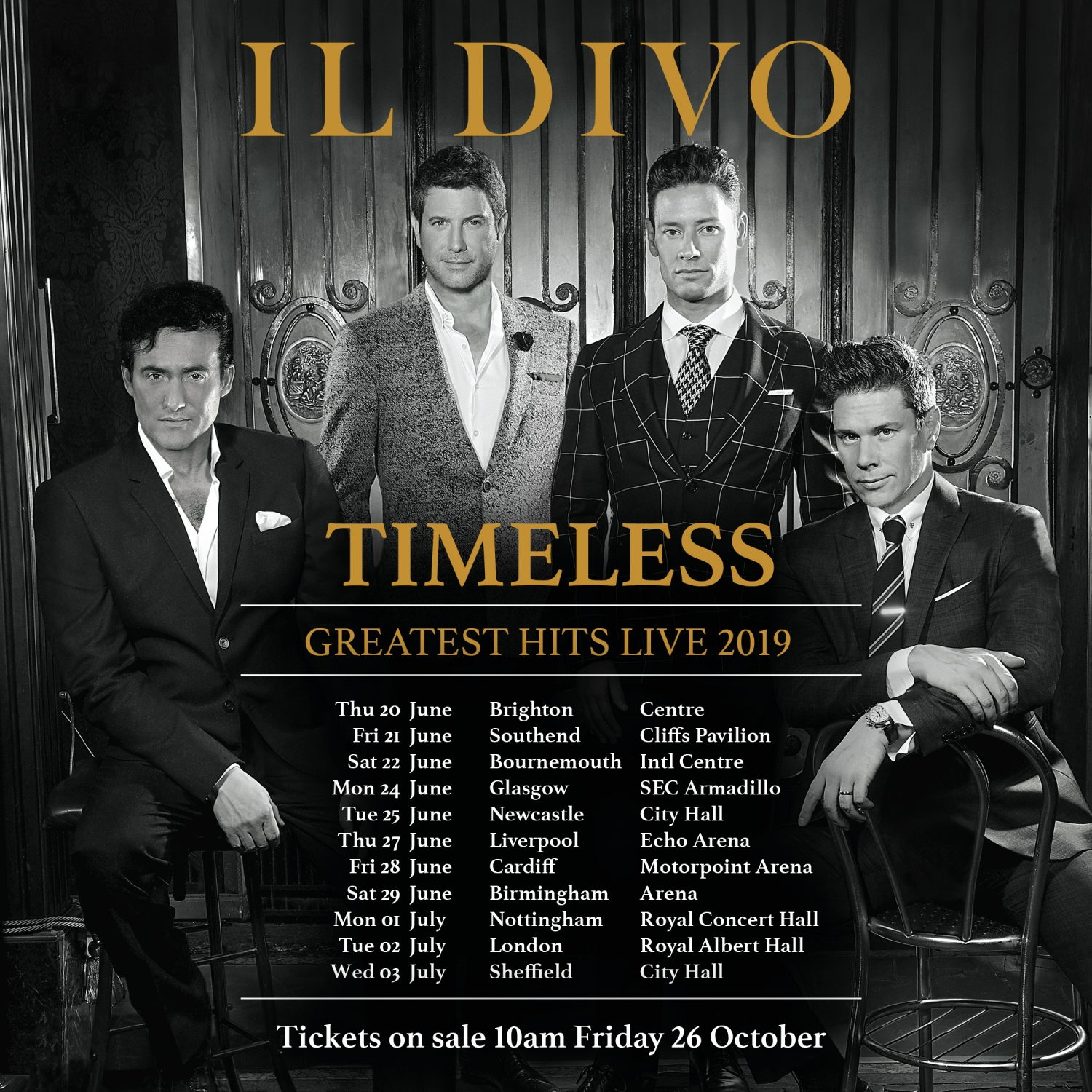 Il divo timeless greatest hits live 2019 motorpoint - Il divo tickets ...